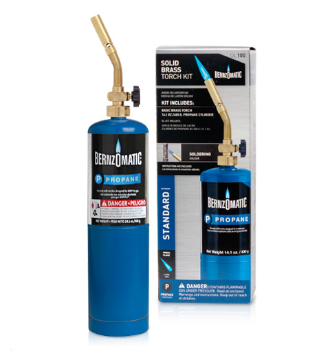 "UL100 - Basic Pencil Flame Torch Kit Basic torch kit produces 1/2""-wide pencil flame for light work. Brass burn tube for durability Solid brass regulators for durability Adjustable flame for controlled heat output UL2317 Basic Pencil Flame Torch 14.1 oz. Propane-filled Cylinder"