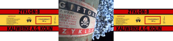 Giftgas-Zyklon B label footer