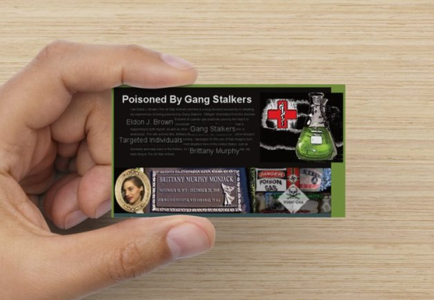 front of Poisoned By Giftgas biz card design #4